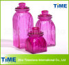 Color Square Storage Glass Jar with Tap