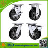Aluminium Mold on Elastic Rubber Heavy Duty Caster