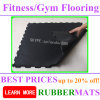 New Style Shockproof Interlock Gym Rubber Flooring
