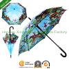 Digital Printing Automatic Stick Umbrella for Oil Painting (SU-1423BF)