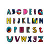 Newest Alphabet Letters Embroidery Patches Applique for Clothing