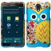 Zizo Rubberized Design Case for Galaxy Mega 2 - Blue Owl