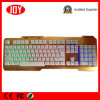 Colorful Backlight Metal Plaste Computer PC USB Wired Keyboard