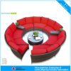 Sectional Wicker Sofa Outdoor Furniture Modern Garden Round Rattan Sofa (CF1004)