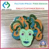 Brass Die Struck Enamel Epoxy Metal Crafts Pin Badges with Glitter