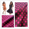 100% Polyester Fabric, Stretch Satin Chiffon DOT Printed for Garment
