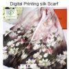2017 Hot Sale Digital Printed Shawls Fashion Lady Silk Scarf