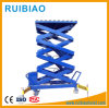 4meter Air Hydraulic Motorcycle Scissor Lift Table with Wheel Vise Ce