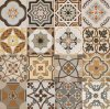 600*600mm Glazed Decoration Tile Rustic Floor Tile Wall Tile for Hotel Decoration Spanish Style No Slip Sh6h005/06