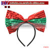 Party Items Bow Sequin Headbands Christmas Cosplay Costumes (P4013)