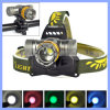 5 Color LED 3 Modes 2000lm T6 CREE Fishing Headlamp