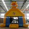 Inflatable Yellow Cat Castle for Outdoor or Indoor Use