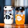 Cute Glass Water Bottles with Mushroom