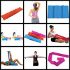 Flat Stretch Bands Exercise Set - Extra Long Extra Wide - Heavy Duty Door Anchor Included