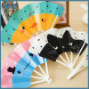 Plastic Ribs Flower Pattern Foldable Hand Fan