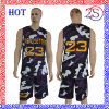 2016 Custom New Design Sublimated Camo Basketball Uniform