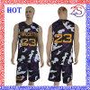 2016 Custom New Design Sublimated Camo Basketball Uniform