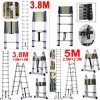 3.8m & 5.0m Multi-Purpose Folding Telescopic Aluminium a Frame Shape Ladder 150k