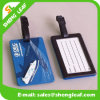 Rectangle Shape Black PVC Rubber Luggage Tag (SLF-LT060)