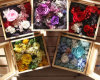 Wood Packing Box of Flowers