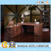 Hotel Luxury Leather Furniture Computer Desk Writing Table with Storage