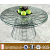 Glass Top Stainless Steel Base Wire Coffee Table