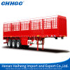 China Chhgc Tri Axles Low Chassis Stake Semi Trailer with Gooseneck