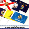 Polyester Pongee/75D Hand Waving Flags with Pole