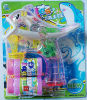 Double Bottles Electric Dolphin Bubble Gun Toys with Music and Light (10998B)