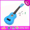 Baby Musical Instrument, Children Toy Wooden Guitar Musical Toy, Beautiful Wood Baby Music Toys 3D Guitar Toys with Music W07h035
