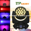 Zoom LED Moving Head 19X12W RGBW 4in1 Wash Beam Light