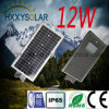 12W High Lumen Quality LED Solar Street Light with Induction