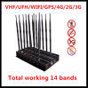 All in One RF Wireless Signal Jammer GPS/GSM/CDMA/Lojack Signal Jammer
