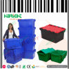 Moving Plastic Storage Crate with Hinged Lid