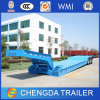 Front Loading Gooseneck Removable Lowbed Semi Trailer