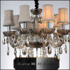Decorative Pendant Crystal Chandelier in Brown for Hotel