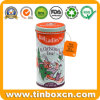 Metal Christmas Tea Tin Canister for Tea Bags Storage Box