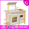 New Design Children Pretend Play Toy Wooden Kitchen W10c255