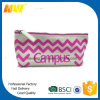 Small Canvas Chevron Cosmetic Bag