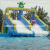 Inflatable Frog Water Bouncer Slide for Water Games Kids Park