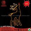 Large 2D Outdoor LED Godlen Yellow Reindeer Motif Christmas Decorative Light