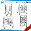 Commercial Stainless Steel M Shape Table Trolley for 1/1 Gn Pan with Working Table