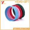 Customized Debossed Logo Silicone Bracelet/ Wristband