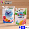 Size Customized Laundry Detergent Bag with Spout and Handle Hole