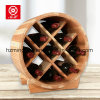 2017 China 9 Bottle Round Latticed Wood Wine Rack