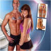 Gym Form Duo Electronic Muscle Toner Fitness System Body Massager / Unisex Wireless Muscle Stimulation System