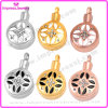 Urn Necklaces for Ashes Round Pendant with Pattern and Crystals Ijd9658
