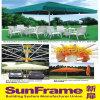 Aluminium Semi Automatic Umbrella for Outdoor