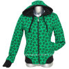 Ladies Printed Fashion Fleece Hooded Jacket