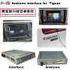 Car Android 4.4 Multimedia WiFi Blue-Tooth Navigation 3G/2g for VW Tiguan Video Interface (MQB)